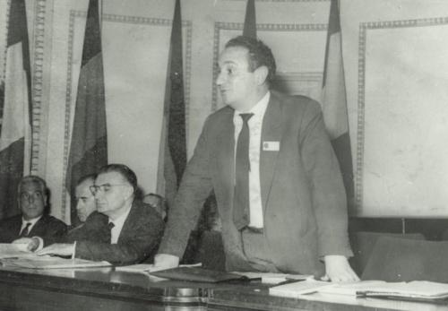 Pere Bofill, en 1962, en el XXIII Congreso de Psicoanalistas de Lenguas Románicas.